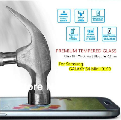 For Samsung GALAXY S4 MINI i9190 , Original Magic Premium Tempered Glass HD Film Screen Protector Anti-Fingerprint Ultrathin(China (Mainland))