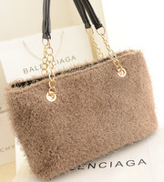 Handbag women's bags 2013 women's handbag winter bag fur women's handbag bag