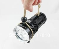 Black Handhold SKYRAY KING 6 x CREE XM-L T6 LED 8000 Lumen 3 Mode LED Flashlight Torch (Power 4 x 18650)