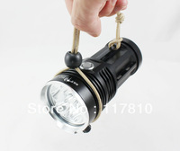 Black Handhold SKYRAY KING 6 x CREE XM-L T6 LED 8000 Lumen 3 Mode LED Flashlight Torch (Power 4 x 18650)