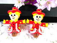 New arrival resin scarecrow for hair necklace decoration 30pcs/lot free shipping stock resins