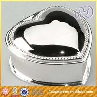 Free Shipping Wholesale Promotion Heart shape Metal Jewelry Box,4pcs/lots