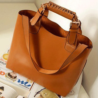South Korea sloping bucket across one shoulder bag handbag pu handbags wholesale free shipping
