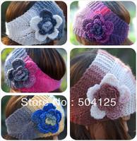 min mix order is $10-- warm winter floral knit crochet head wrap ear warmer head wear elegant lady tone