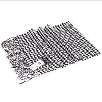 Men's precision knit houndstooth cotton tassels scarf man stripe scarves in winter autumn Pashmina