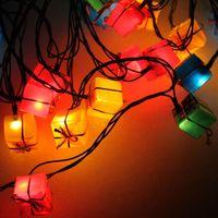 Christmas decoration lamp laser packs lantern style christmas lighting lantern flasher 3 meters 28 lamp