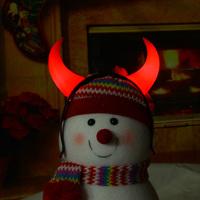 Flash horn buckle hair bands Christmas decoration supplies luminous