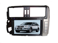 100% Quality Guarantee 2 Din  Car DVD Players For Toyota Prado 150 with GPS Navigation /ipod/TV/USB/camera wholesle