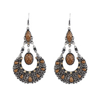 Hot Selling Christmas Gift Ethnic Style Beads Alloy Dangle Earrings Long Animated Earrings Bijoux 2013