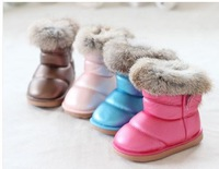 Children Casual Boots Cute Boys & Girls Rabbit Fur Waterproof Snow Boots (Size 21-25) 6721