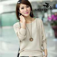 New arrival 2013 women's slim sweet autumn and winter o-neck women's pullover sweater sweater