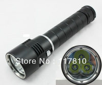 New Super Bright 3 x Cree U2 200m LED Diving Flashlight 4800 Lumen 26650 Underwater Flashlight Diving Lamp