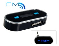 Free shipping + New 2014 Car Styling 3.5 mm Multifunctional Car FM Transmitter (Black)