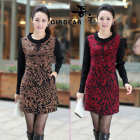Women's 2013 slim autumn Women medium-long sweater outerwear