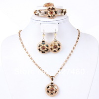 New arrival latest design 4pcs gold plated chunky jewelry fashion african jewelry sets good quality costume jewelry sets