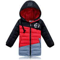 Color male child winter down coat child clothing boys down coat