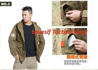 Loveslf new fashion field dust coat military tactical gear