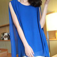 Free shipping 2014 lace hollow yarn women blouse blusas de renda femininas three quarter chiffon blouse