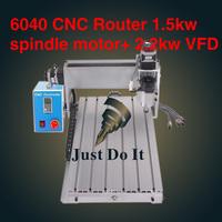 The most senior CNC router 6040 CNC6040z-s65j 1.5KW engraving machine CNC Cutting Machine Carving Drilling Milling Machine