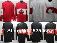 Hot Sale!Newest  Men's Cheap 2014 Winter Olympic Team Canada Blank Red Black WhiteIce Hockey Jerseys From China Size 48-56