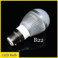 Free shipping (10pieces/lot) led dimmable bulb B22 3W/4W/5W/6W/7W/9W B22 led light blub lamp 220V High-power lights