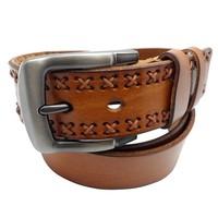 New arrival genuine leather men waist belts,cowhide vintage pin buckle cowboy waist belts F30