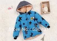 2013-214  new winter models  children thickDongkuan elk stereo ear Boys Sweater Star hooded coat boys