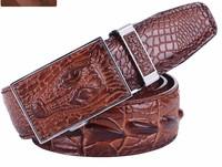 2013 new Crocodile pattern cow leather men designer belts ,genuine leather fashion belts A-8