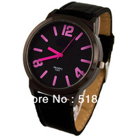Big Watch Face Synthetic Leather Quartz Battery Boy's Gift Wrist Watch Watches