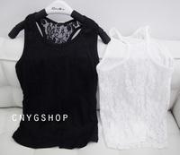 baby teenage girls blouse fashion summer lace crochet tutu tops shirt t-shirt children suspenders quality 100% cotton lace vest