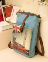 PU London Print College Big Size College Messenger Bag Fashion Travelling Lady Bag