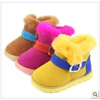 shoes kids children boots Baby boys and girls winter Warm Cotton
