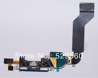 100%Original For iPhone 4s  Dock Connector Charging Port   Free Shipping 10PCS/lot black