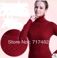 Ladies' Autumn Winter New turtleneck Cultivate one's morality In the long Knit Render a sweater pullover women cardigan women