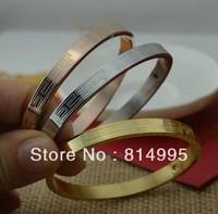 Min order $25(mix order) 18k gold platets/minecraft H bangle for women/ men Fancy letter with bangle