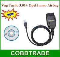 2013 Hot VAG Tacho 3.01 Immo Airbag For Opel Car and VAG Series Auto OBDII OBD2 USB Interface Vag Tacho 3.01 Diagnosis free Ship
