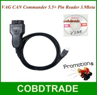 Free Shipping! VAG CAN Commander 5.5 Pin Reader 3.9Beta security code reading and odometer correction via OBDII