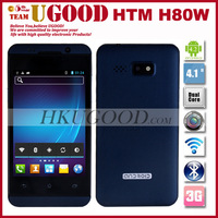 New Arrival HTM H80W MTK6572W 1.2GHz Dual Core Smartphone Mobile Android 4.2 OS 4.0'' 2.0MP Camera Wifi 3G WCDMA Multilanguage