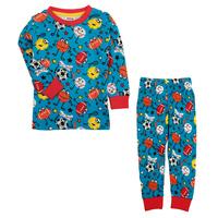 HOT SALE! Free shipping NWT 5 sets/lot 18m~6y boy printed cartoon animals home wear & pajamas set
