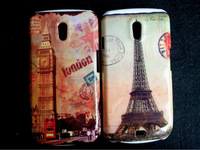 UK US flag Eiffel Tower hard Case back cover for Samsung Galaxy Nexus I9250