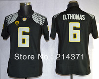 Free shipping - Oregon Duck 6  De'Anthony Thomas  Black  Women   College Football Jerseys size: S-XXL