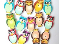 scrapbooking bulk Animals DIY scrapbooking accessories wooden heart shape buttons for craft mixed sewing