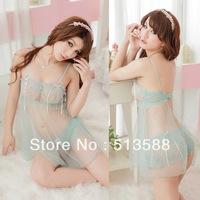 Free shipping new lingerie transparent nightgown embroidered condole sexy ladies pajamas can wholesale