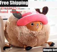 Free Shipping 35*33cm Japanese style kawaii cute ONE PIECE character pink deer Tony Tony Chopper doll hand warmer plush toy NEW