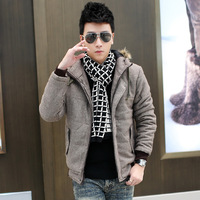 Wadded jacket male fashion outerwear thermal male autumn and winter Men cotton-padded jacket cotton-padded jacket 2013 design