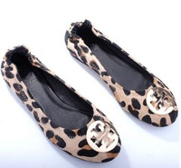 Europe really Pima hair leopard flat shoes fashion women's shoes dancing shoes