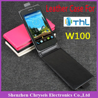 1pcs Free ship! New Flip PU Leather case Cover For THL W100
