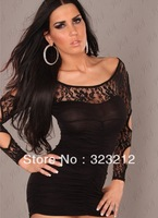 Hot Sale Thrilling open back Lace sexy mini crochet party Dress for women