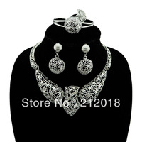 Buy 2 get 1 free, African Costume Jewelry Set, Platinum Plated Ball Shape Jewellery, Free Shipping