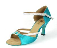 BBS-1A031 new diamond Latin shoes high-heeled shoes with rhinestones buckle satin Latin Latin shoes adult women